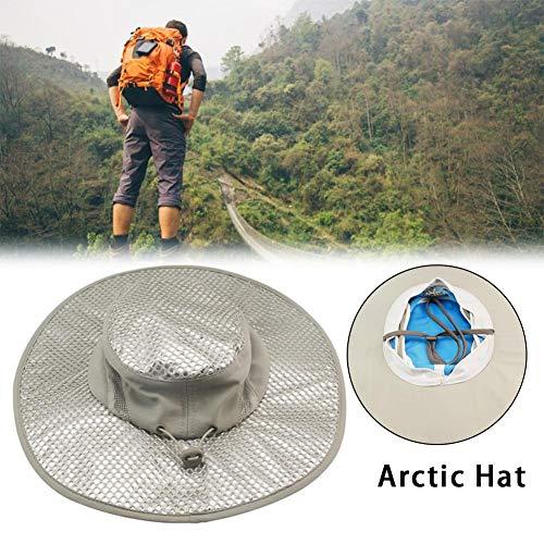tdoor Nylontuch Sonnenhut, Sommer breiter Krempe Eimer Hut, UV-Schutz Buschhut Faltbare breiter Krempe Boonie Hüte für Strandangeln ()