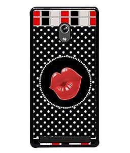 PrintVisa Designer Back Case Cover for Asus Zenfone 5 A501CG (Black Red Art Illustration Decoration Image Modern Fashion)