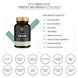 Iron Tablets 14mg Iron Supplement 180 Tablets - Best Iron Supplement for Tiredness and Fatigue - One-A-Day Vegan Iron Tablets