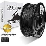3D Warhorse Real Wood PLA 3D Printer Filament,Wood Filament 1.75 mm,1KG(2.2LBS) Spool, Dimensional Accuracy +/- 0.02 mm,Wood Filament,Bonus with 5M PCL Nozzle Cleaning Filament