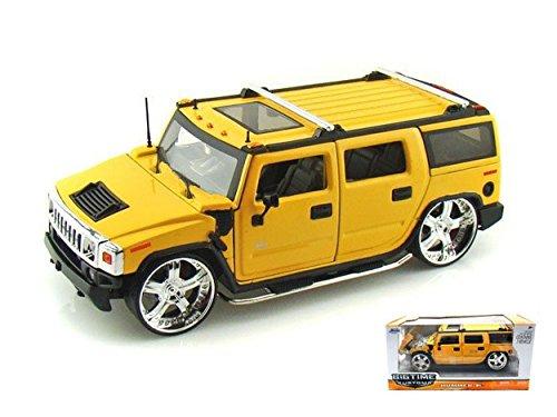 jada-toys-jada90403y-hummer-h2-2003-yellow-124-modellino-die-cast-model