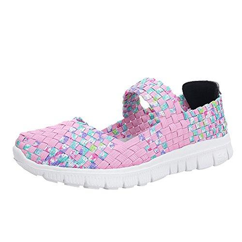 Zapatos planos tejido mujer