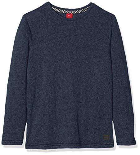 s.Oliver Junior Jungen 75.899.31.1003 Langarmshirt, Blau (Blue Melange 57w5), 140 (Herstellergröße: S/REG)
