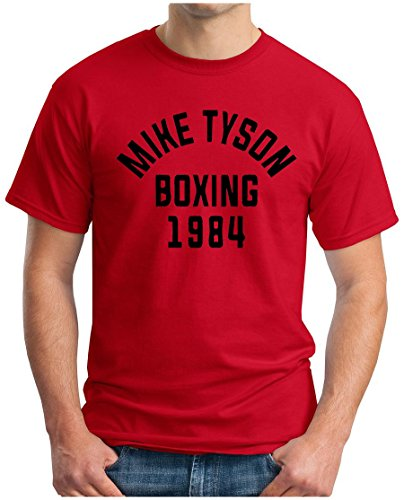 OM3 - MIKE TYSON 1984 - T-Shirt BOXING Heavyweight CHAMPION KO FIGHT PEACE DOPE NYC GEEK, S - 5XL Rot