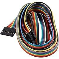 10Stk 20cm 2,54 mm 8P-8P Buchse F//F Jumper Kabel Flachbandkabel Flachkabel