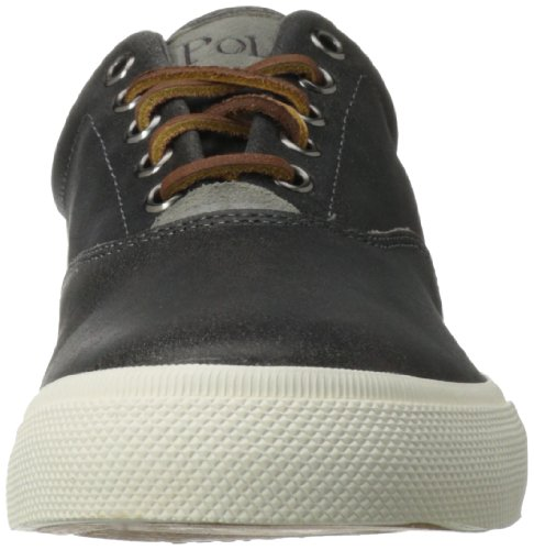 Polo Ralph Lauren Vaughn Distressed Leather Sneaker Charcoal Grey/Charcoal