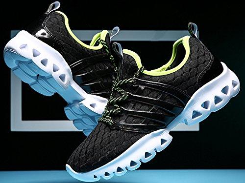 IIIIS-R Uomo Scarpe da Ginnastica Corsa Sportive Running Sneakers Fitness Interior Casual all'Aperto Nero