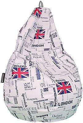 Puff Pera Polipiel London Happers (diferentes tamaños)