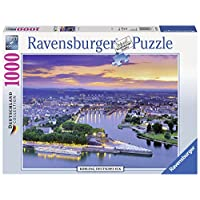 Ravensburger-Puzzle-19782-Koblenz-Deutsches-Eck Ravensburger Puzzle  19782 – Koblenz, Deutsches Eck – 1000 Teile - Start -