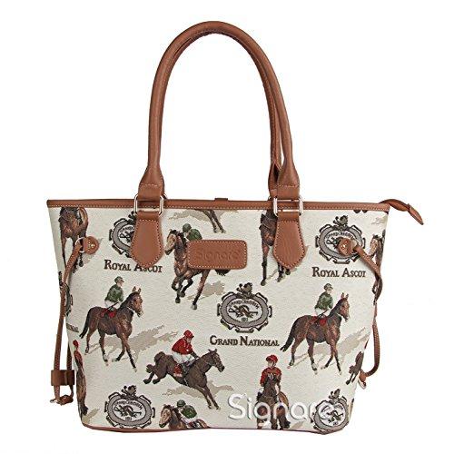 Signare fourre-tout sac d'épaule tapisserie mode femme Course