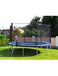 Trampolin mit Sicherheitsnetz, inklusive Leiter und Randabdeckung Gartentrampolin 250, 305, 370, 400, 430cm