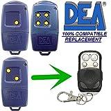 Dea 433–1/433–2/433–4Swing telecomando Apricancello compatibile con batteria 12V 27a portachiavi | Fix codice 433.92MHz