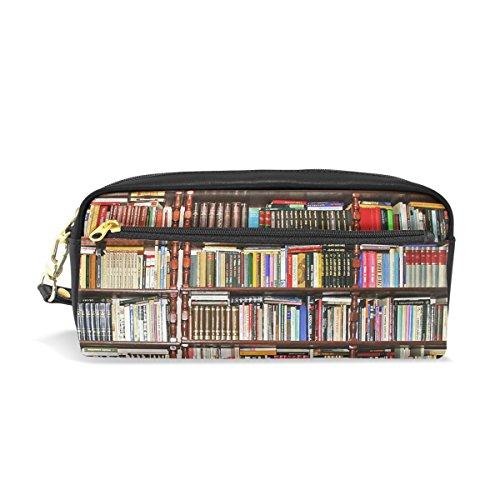 jstel Bücherregal Schule Bleistift Tasche für Kid Jungen Kinder Teens Stifthalter Kosmetik Make-up-Tasche Frauen Haltbare Stationery Pouch Bag großes Fassungsvermögen -