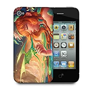Snoogg Dragon Angel Designer Protective Back Case Cover For Apple Iphone 4