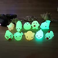 Glow in the Dark Squishy Toy, Indexp Luminous Elastic Anti Stress Relief Cream Scented Slow Rising Squeeze Fun Gift for ADHD