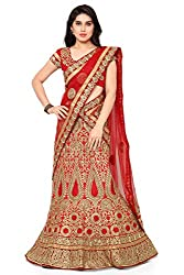 NAAIDAAKHO RED COLOR HEAVY BENGLORY SILK LEHENGA CHOLI