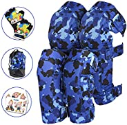Innovative Soft Kids Knee and Elbow Pads with Bike Gloves I Toddler Protective Gear Set w/Mesh Bag I Comfortab