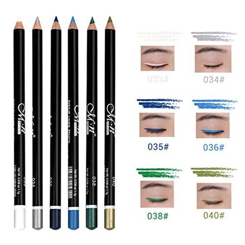 IGEMY Ein Satz von 6 langlebigen Eye Liner Pencil Pigment wasserdicht Eyeliner Make-up (B)