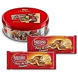 Nestlé Caja Roja (250 g) + Nestlé Chocolate Relleno Dulce de Leche (Pack de 2 x 240 g)