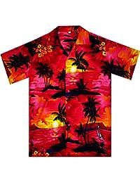 Original King Kameha   Funky Camisa Hawaiana Señores   XS -12XL   Manga Corta   Bolsillo Delantero   impresión De Hawaii  Surf  diferentes colores