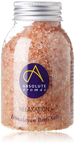 Absolute Aromas Relaxation Himalayan Bath Salt 290g - with Lavender, Petitgrain, May Chang and Ylang Ylang Essential Oils - Great for a relaxing soak
