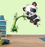 #9: SRG India Cute Panda On Tree Mulitcolor Wall Sticker