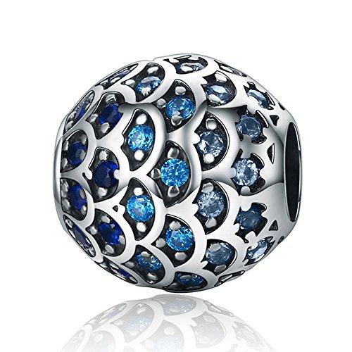 Fisch Waage 925Sterling Silber Bead für Pandora Charm Armband (Fisch Charms)