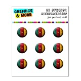 Drapeau du Cameroun de football Soccer Ball Futbol Home Button Stickers pour Apple...