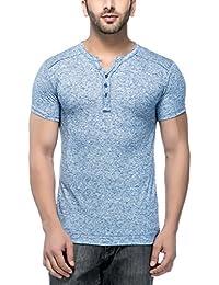 Tinted Men's Cotton Linen Henley T-Shirt