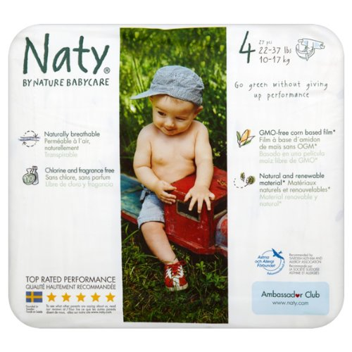 Naty by Nature Babycare - Couches Taille 4 - Lot de 3 paquets (81 couches)
