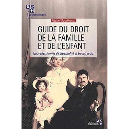 Guide du droit de la famille et de l'enfant: Nouvelles formes de parentalité et travail social.