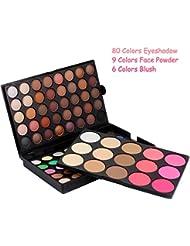 BOBORA 95 Couleurs Fards a Paupieres Matte Nude Colore Impermeable a L'ombre Maquillage Palette Set Face Eyes Blush + Powder + Shimmer