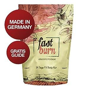 Nurigreen Fast Burn 14 Tage Body Detox Tee Kur – Natürliche Kräuterteemischung – 100 Gramm Hergestellt In Deutschland