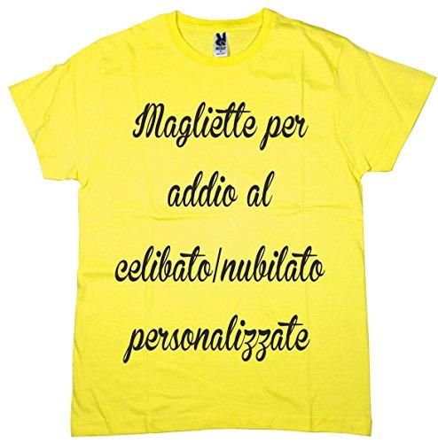 Centro stampa brianza t-shirt addio al celibato e nubilato personalizzate con scritte e foto minimo 4 pezzi
