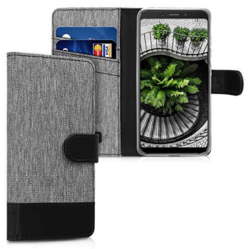 kwmobile Xiaomi Redmi 6A Hülle - Kunstleder Wallet Case für Xiaomi Redmi 6A mit Kartenfächern & Stand