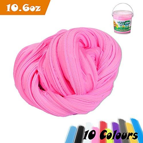 Slime Fluffy, Aitsite 300g / 900ml Fluffy Slime No Borax Non-collant for Enfants et Adultes (Rose)