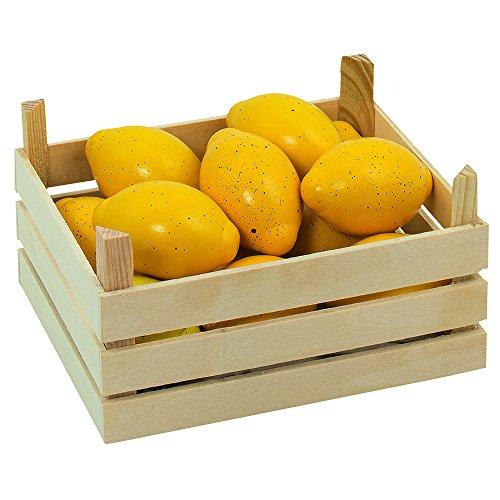 Goki 51666 - Kaufläden und Zubehör - Zitronen, Obstkiste