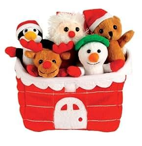 Hide Away Finger Puppets: - Set de Marionnettes de Doigt - Maison du Père Noël
