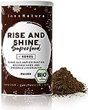 "Bio""Rise and Shine"" Superfood Morning Energie Shake mit 13 Superfoods (Kakao + Kokos + Guarana Matcha + Chiasamen + natürliches Koffein) 300g Premium Smoothie Protein Pulver. Vegan + made in DE."