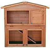 Bentley Pets - Kleintierstall f. draußen - 2 Etagen & Rampe - 3 Bereiche - Nager/Kaninchen/Meerschweinchen