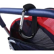 OUNONA 2 st/ück Kinderwagen Haken Buggy Clips Kinderwagenhaken f/ür Wickeltasche Einkaufstaschen Kleidung Zuf/ällige Farbe