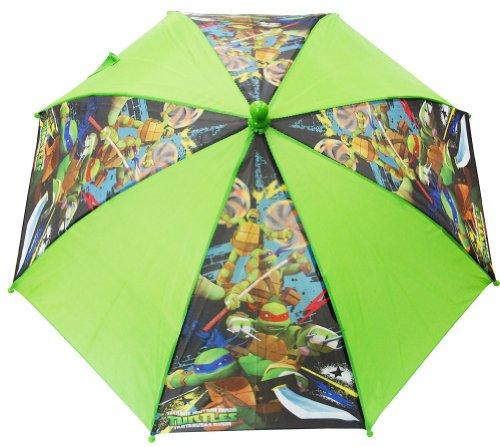 Regenschirm–TMNT–Ninja Turtles–Grün geformt behandelt Neue Jungen Geschenke Spielzeug Kinder