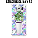 Phone Case Sizzurp and Weed Seapunk for Samsung Galaxy S6 SM-G920 Plastic White (Ships from CA)