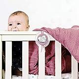 Valenti&Co - Medaglione Capoculla con Angeli in Argento perfetto come idea regalo nascita o regalo battesimo da appendere alla culla, al passeggino o in cameretta del neonato
