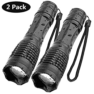 Aomees LED Torch Powerful Flashlight Torches [2 Pack]
