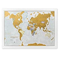 Maps International Scratch The World Travel Map 33 x 23 inches