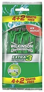 Wilkinson Sword Extra 3Sensitive Disposable Razors 4Plus 2Free