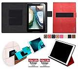 Hülle für Lenovo IdeaTab A1000 Tasche Cover Case Bumper | in Rot Leder | Testsieger