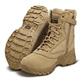 "Originial SWAT Men's Tan Leather Chase 9"" Tactical Side-Zip Boot UK-10"