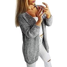 Cardigan Femme Hiver Laine Chaud Long éLéGant ELECTRI Sweater Chaude  DéContractéE Sexy Blouse Pas Cher A 44bf21951b2